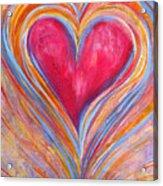 Happy Dancing Heart Acrylic Print