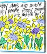 Happy Days W Blue Acrylic Print