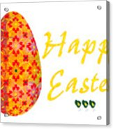 Happy Easter Abstract Greeting Card Art By Omaste Witkowski  Acrylic Print