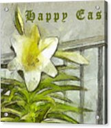 Happy Easter Lily Acrylic Print