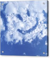 Happy Face Sky Acrylic Print