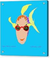 Happy Fish On Vacation Acrylic Print