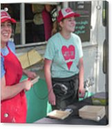Happy Food Truck Workers Acrylic Print