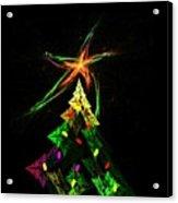 Happy Fractal Holidays Acrylic Print