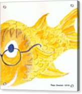Happy Golden Fish Acrylic Print by Fred Jinkins