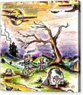 Happy Halloween Acrylic Print by James Sayer