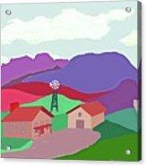 Happy Highland Farm Acrylic Print