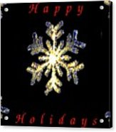 Happy Holiday Snowflakes Acrylic Print