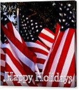 Happy Holidays Flag 1 Acrylic Print