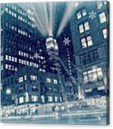 Happy Holidays From New York City Acrylic Print