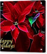Happy Holidays Acrylic Print
