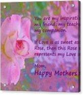 Happy Mothers Day 2 Acrylic Print
