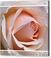 Happy Mother's Day Soft Rose Acrylic Print