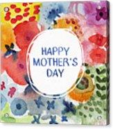 Happy Mothers Day Watercolor Garden- Art By Linda Woods Acrylic Print