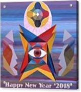 Happy New Year 2018 Acrylic Print