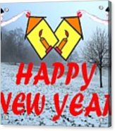 Happy New Year 24 Acrylic Print