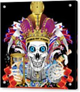 Happy New Year King Of Time Acrylic Print
