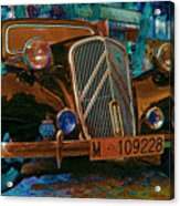 Happy Old Citroen Acrylic Print