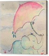 Happy Rain  Acrylic Print