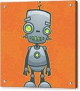 Happy Robot Acrylic Print by John Schwegel