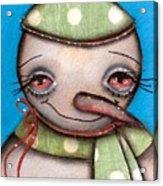 Happy Snow Man Acrylic Print