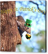 Happy St. Pat's Day Card Acrylic Print