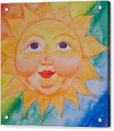 Happy Sun Acrylic Print