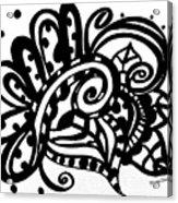 Happy Swirl Doodle Acrylic Print