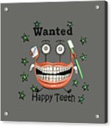 Happy Teeth T-shirt Acrylic Print