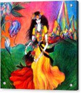 Happy To Dance. Ameynra And Mother-queen Acrylic Print