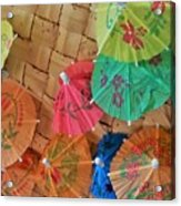 Happy Umbrellas Acrylic Print