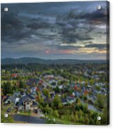 Happy Valley Residential Neighborhood During Sunset Acrylic Print