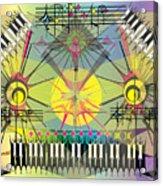 Hapyhour Keyboards Acrylic Print
