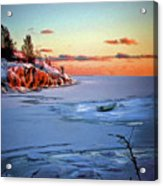 Harakka Island Sunset Acrylic Print