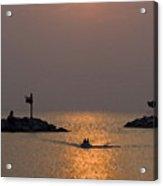 Harbor At New Buffalo Michigan At Sunset Acrylic Print
