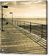Harbor Beach Michigan Boardwalk Acrylic Print