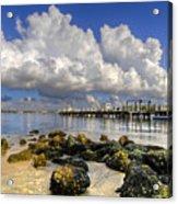 Harbor Clouds At Boynton Beach Inlet Acrylic Print
