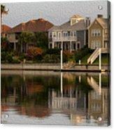 Harbor Homes Acrylic Print