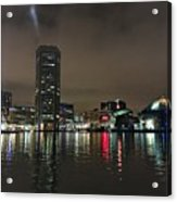 Harbor Lights In Baltimore Acrylic Print