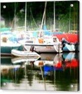 Harbor Masts Acrylic Print