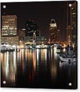 Harbor Nights - Baltimore Skyline Acrylic Print