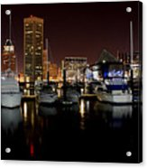 Harbor Nights - Trade Center In Focus Acrylic Print