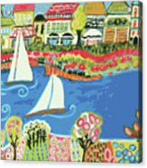 Harbor Of Gardens  Acrylic Print by Karen Fields