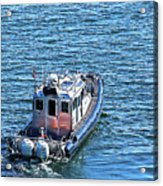 Harbor Police Patrol Boat Acrylic Print