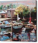 Harbor Sailboats At Rest Acrylic Print