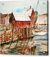 Harbor Scene New England Acrylic Print