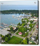 Harbor Springs From Above Acrylic Print