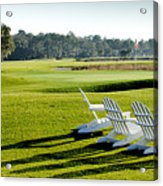 Harbor Town At Seapines 18th Hole Acrylic Print by Dustin K Ryan