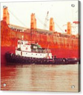 Harbor Tugboat Acrylic Print by Fred Jinkins