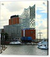 Harbor View With Elbphilharmonie Acrylic Print